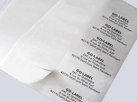 étiquettes en planche